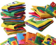 6pcs lot Different designs English Language Fabric Cloth Book Learning Education Baby Toys 3 Months