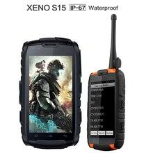 Xeno S15 IP68 Rugged Phone MTK6589 Quad Core Waterproof Dustproof Shockproof Phone VHF UHF PTT Radio Walkie talkie A9 X8 GT V8