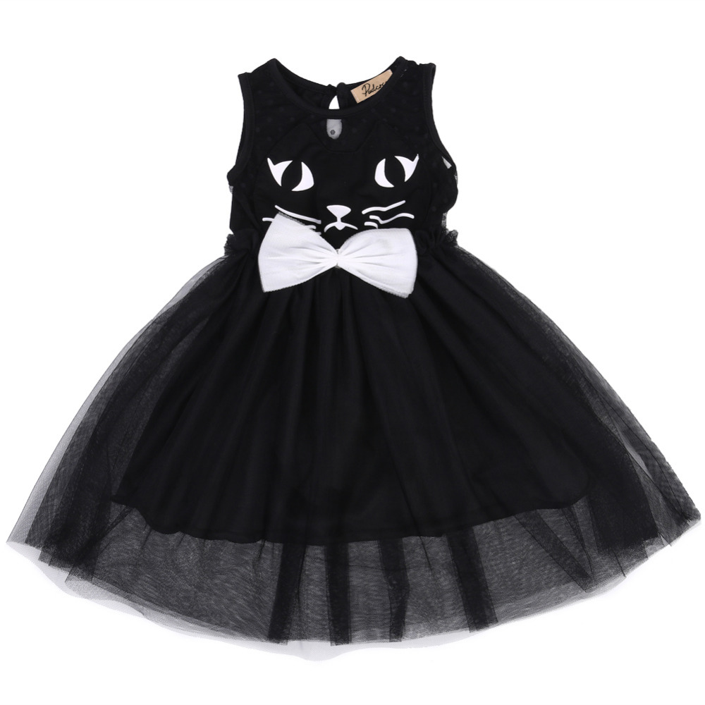 2017 Infant Toddler Baby Kids Girl Black Pageant Costume -2489