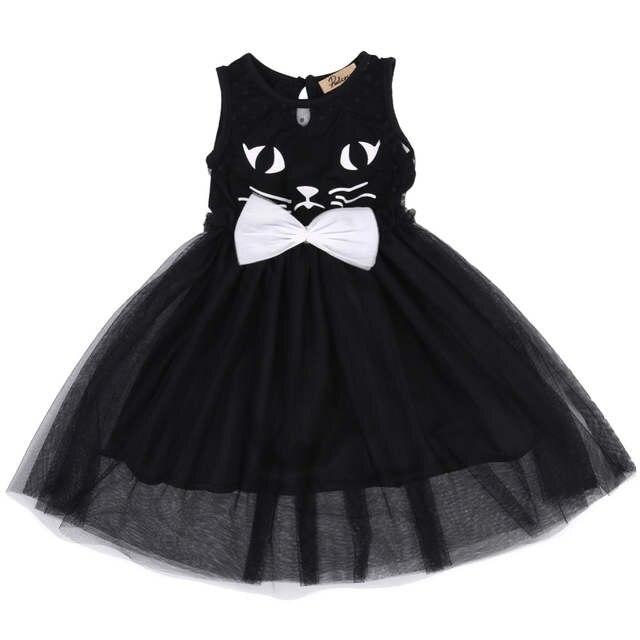 2017 Infant Toddler Baby Kids Girl Black Pageant Costume Cat Tutu Princess  Party Dress. placeholder ... d77bdafb03bd