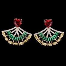 купить SisCathy Brand Gorgeous Stud Earrings for Women AAA Cubic Zirconia Earrings Ladies Wedding Engagement Jewelry Ear Accessories дешево