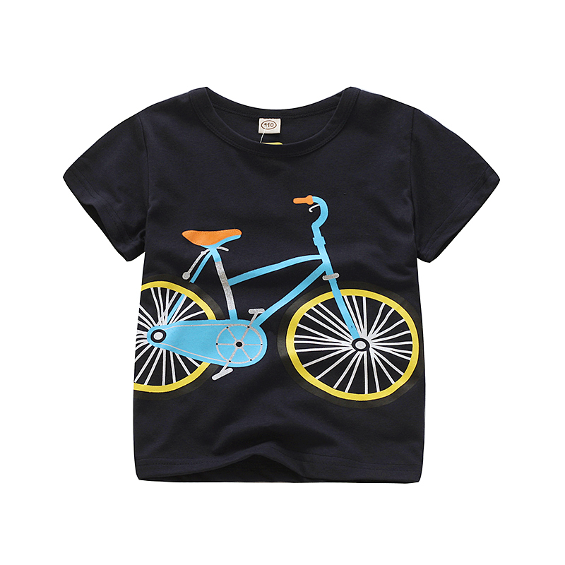 V-TREE; летние рубашки для мальчиков; хлопковые детские футболки; цветные топы для девочек; детская блузка с короткими рукавами; футболки для малышей; одежда для малышей - Цвет: bike