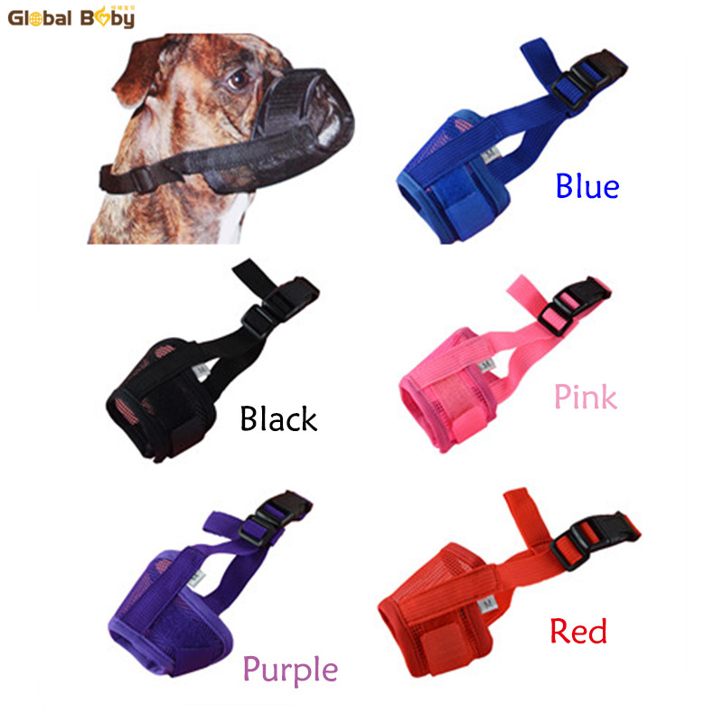 Hot Sale 5 Sizes 5 Colors Preventing Barks Nylon Soft Dog Pet Puppy Muzzle Mouth Mask
