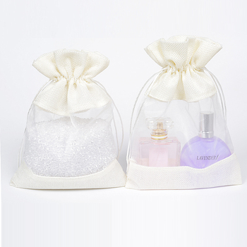 50Pcs Cream Linen Jute Drawstring Bags 10x14 13x18cm Gift Jewelry Packaging Pouches Bags Wedding Party Jute Gift Candy Bag