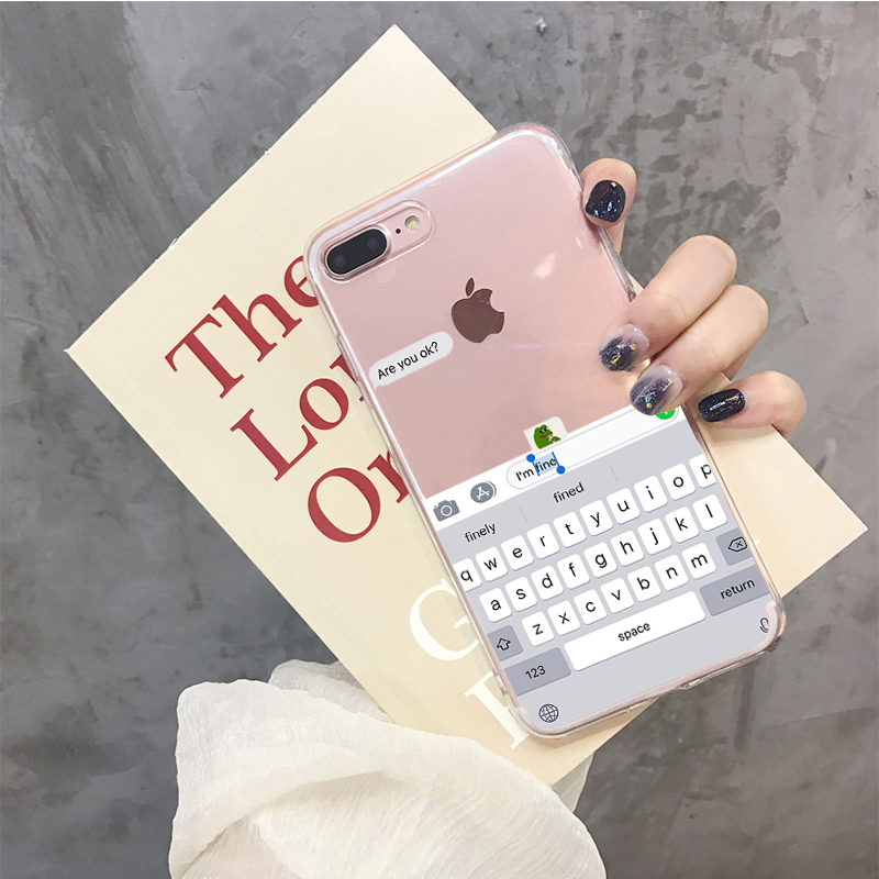 Yinuoda Funny Meme Are You Ok I Am Fine Soft Clear Phone Case Cover Fundas Coque For iPhone 6 6S 7 8 Plus 5 5s se X XS Max