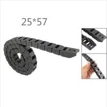 Бесплатная доставка 1 м 25 * 57 мм пластиковые кабель сопротивления цепи для станков с чпу, Внутренний диаметр открытия крышки, Pa66