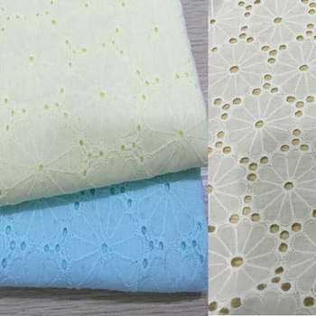 Bilateral cotton openwork embroidery lace fabric skin-friendly soft summer dress lace fabric width 140 cm-GZHF