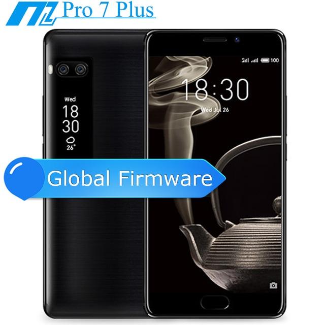 "Оригинал Meizu Pro 7 плюс 6 ГБ 64 ГБ/128 ГБ 5.7 ""2 К Super AMOLED Экран дека core helio X30 двойной сзади Камера Двусторонняя Экран"