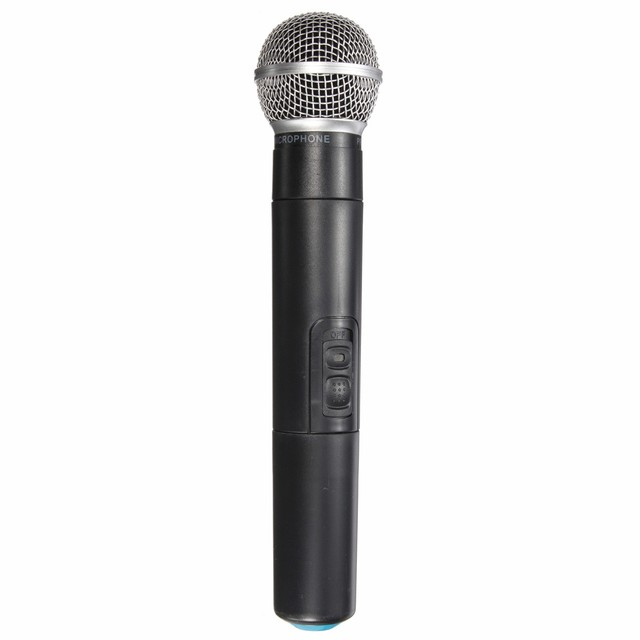 Best Price Dual Professional Wireless Microphone System Cordless Handheld Microphone Mic Kareoke KTV