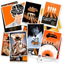 A1-45 # Clockwork Orange 20/stücke PVC Serie Aufkleber Home Decor Kühlschrank Styling Wand Reise Koffer Graffiti Styling(China)