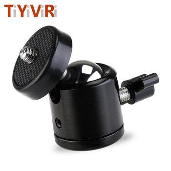 1/4 Hot Shoe mocowanie do statywu głowica kamery Adapter kulowy Cradle głowica kulowa z blokadą lampa błyskowa led uchwyt wspornika do aparatów DSLR DV