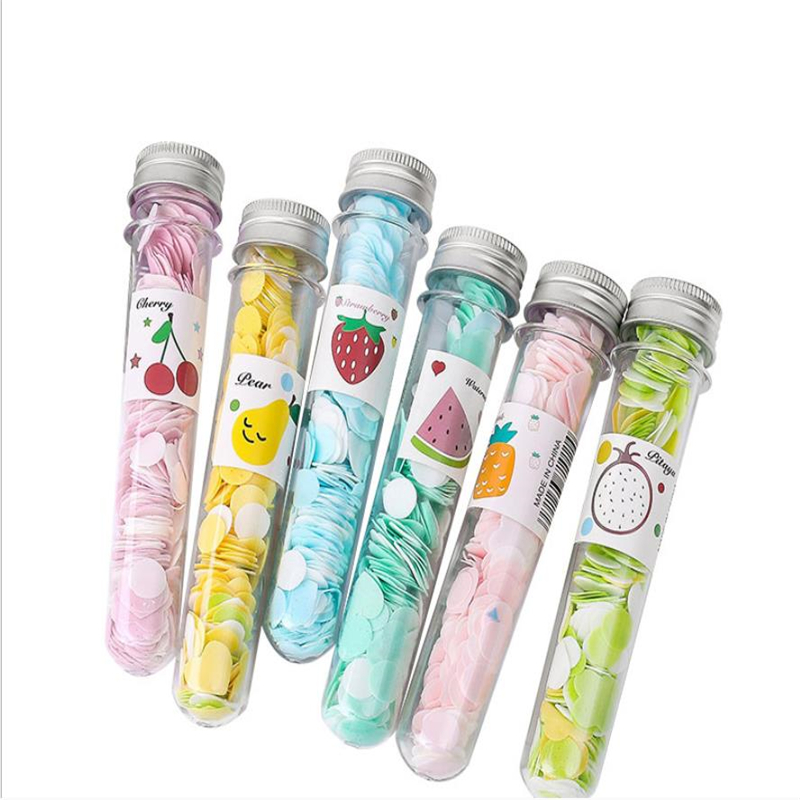 Portable Tube Soap Petals For Travel Scented Soap Flakes Child Hand Washing Soaps Desk Set For School Supplies Wholesale