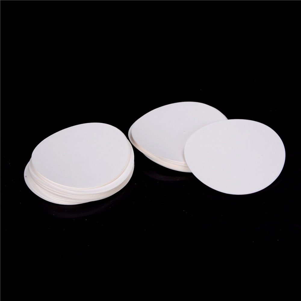 100Pcs/bag 9cm Round Filter Paper Qualitative Filter Paper Medium Speed Funnel Filter Paper Laboratory Supplies