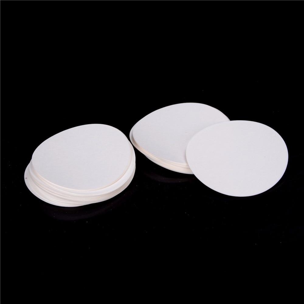 100Pcs/bag 9cm Round Filter Paper Qualitative Filter Paper Medium Speed Funnel Filter Paper Laboratory Supplies