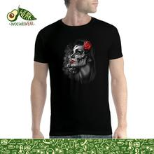 Rose Girl Skull Men T-shirt S-3XL New T Shirts Funny Tops Tee Unisex  High Quality Casual Printing 2018 Newest Fashion