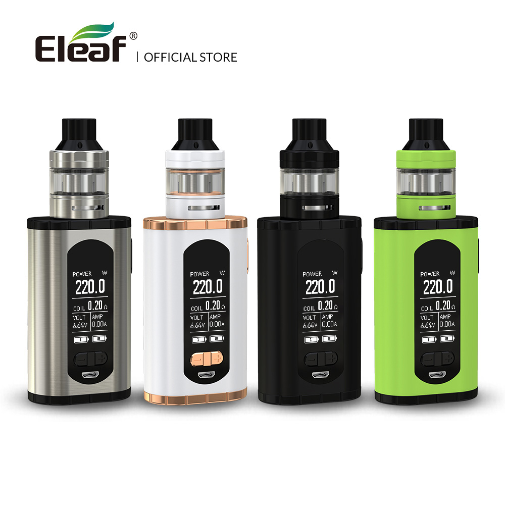 USA/France Warehouse Original Eleaf Invoke with ELLO T kit 220W 1.3-inch Screen 0.2ohm HW3/0.3ohm HW4 Coil E Cig original eleaf invoke 220w with ello t tc kit with 2ml ello t tank extendable to 4ml