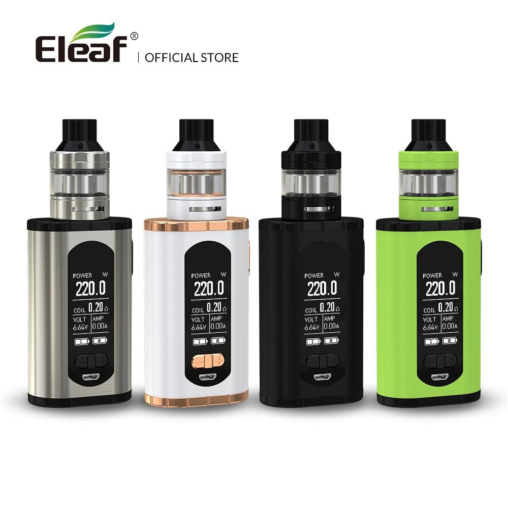 USA/Frankreich Lager Original Eleaf Invoke mit ELLO T kit 220 watt 1,3-zoll Bildschirm 0.2ohm HW3/ 0.3ohm HW4 Spule E Cig