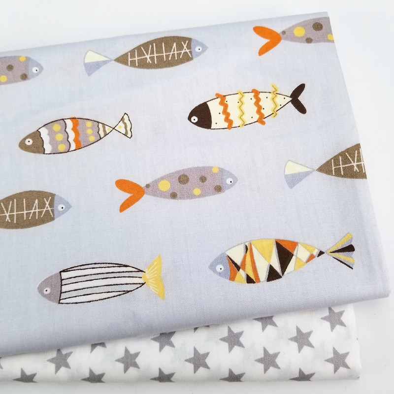 Kids Cotton Sheet  Fabric Cotton Patchwork Cloth For DIY Sewing Quilting Fat Quarters Material For Baby&Child