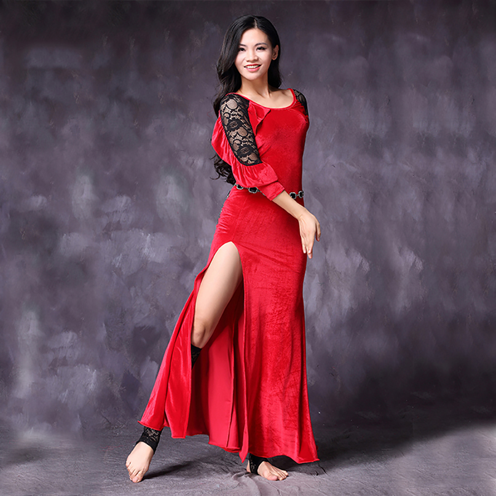 Cheap Belly Dance Dresses For Ladies Red Pink Blue Green