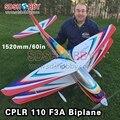 60in/1520mm CPLR Galactik 110 PB Madera De Balsa Avión F3A ARF RC Avión Biplano