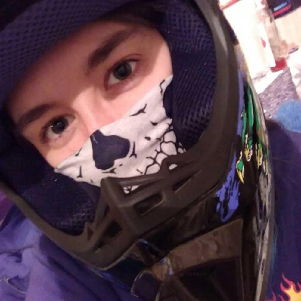 3D duch czaszka szalik maska motocyklowa ochronny sprzęt wiatroszczelna pyłoszczelna welon szkielet kapelusze Halloween Cap kostium