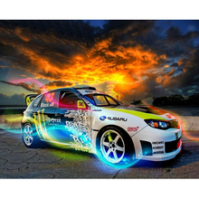 Racing car diamond Embroidery diy painting mosaic diamant 3d cross stitch pictures H505