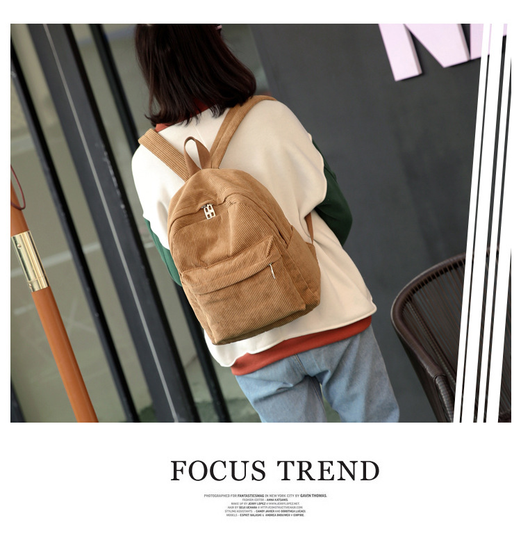 HTB15L6cd2WG3KVjSZFgq6zTspXaG 2019 New Corduroy Women Backpack Pure Color Women Travel Bag Fashion Double Backpack Female Mochila Bagpack Pack Design