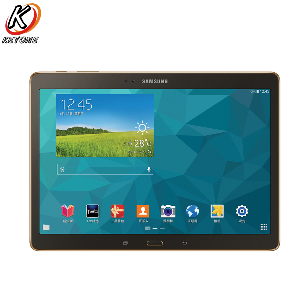 Original nouveau Samsung Galaxy Tab S T800 WIFI Tablet PC 10.5 pouce 3 gb RAM 16 gb ROM Double Caméra android 7900 mah PC