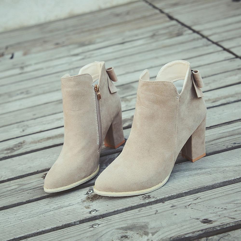 Talons De Zapatos Ag Beige Autunm Femmes Cuir brown Cheville Flcok Femme Chaussures Sagace Mujer Bottes En Chaussons black Haute Vintage Hiver 22 6ZTxxX4qw