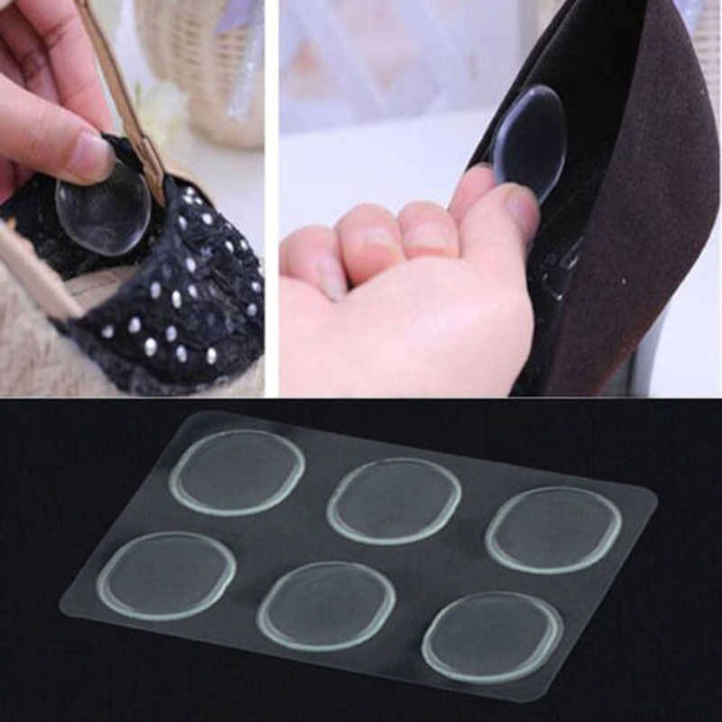 6PCS Gootrade Girl Gel Silicone Shoe Insole Insert Pad Cushion Heel Grip Liner