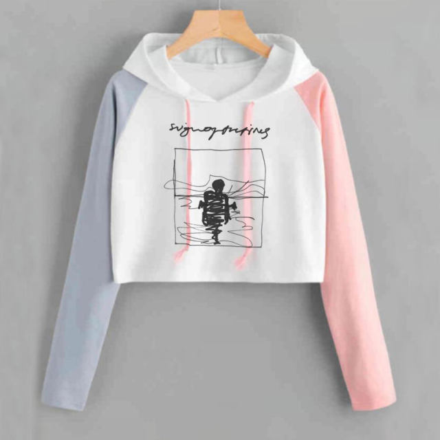 HARRY STYLES CROP TOP HOODIE (15 VARIAN)