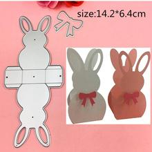 1pcs 3D Rabbit Frame metal Cutting Die+2PCS carft Tag for DIY Scrapbooking/photo album Decorative Embossing Paper Cards