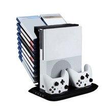 Оригинал Mutilfunction Держатель Стенд Вентилятор Охлаждения Стендах Ж/Хранения USB Для XBOX ONE S с Зарядной Станции Большой Рождественский Подарок