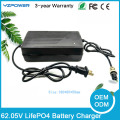 62.05V 2.5A 3A 3.5A Auto-Stop LifePO4 Battery Charger For 17S 54.4V Lifepo4 Battery Pack