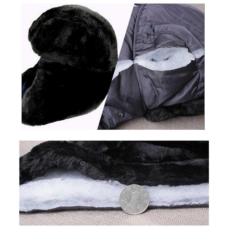 f79b5d1a5b715 ... Winter Bomber Hats Kids Trapper Trooper Russian Badge Earflap Balaclava  Face Mask Girls Boys Family capSnow