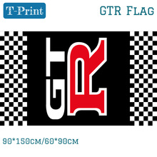 Free shipping 90*150cm 60*90cm New Design GTR Racing Flag Banner Nissan GT-R Perpendicular To The Checkered Flag