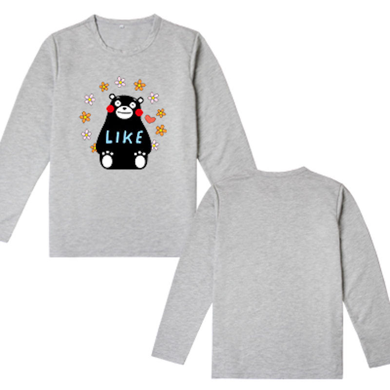 2018 Cute Unicorn Kumamon Bear long sleeve t shirt men's tshirt kawaii boys clothes cotton t-shirt spring tops tees