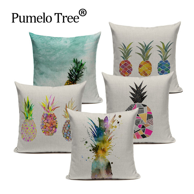 Customized cushion covers pineapple flower birds custom pillows customized cushion covers pineapple flower birds custom pillows cover colorful geometry baby sofa decoration gift dropshipping negle Image collections