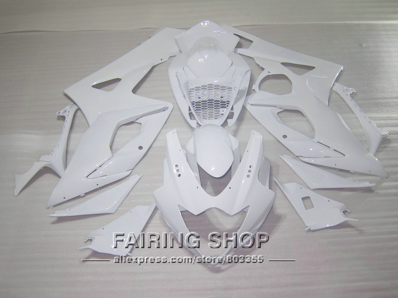 New hot stampaggio ad iniezione carenature per Suzuki GSXR1000 K5 K6 2005 2006 bianco kit carenatura GSXR 1000 05 06 IK28