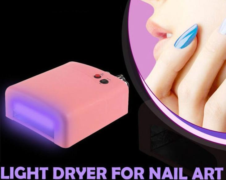 36 W UE Plug Ultraviolet 220 V UV Lampe LED Lampe pour Nail sèche-Nail Lampe Durcissement pour UV Gel Ongles Vernis À Ongles Art outils