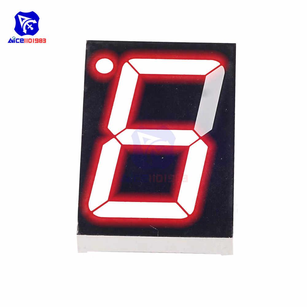 "5 Pcs 10 Pin 1 Bit 7 Segment 1/"" Red LED Display Digital Tube Common Cathode H rl"