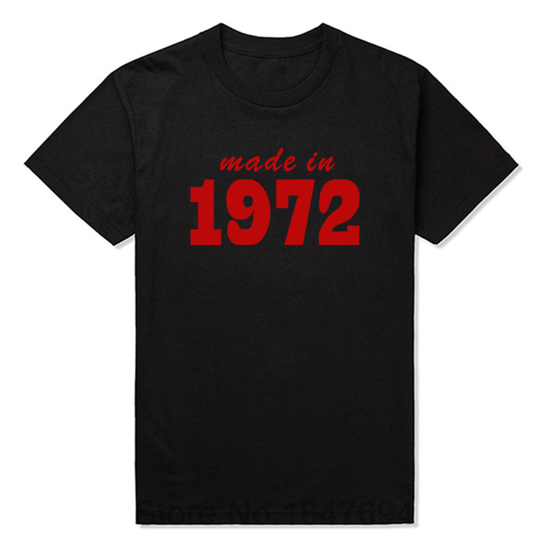 Made In 1972 19XX FUNNY PRINTED MENS T-SHIRTs