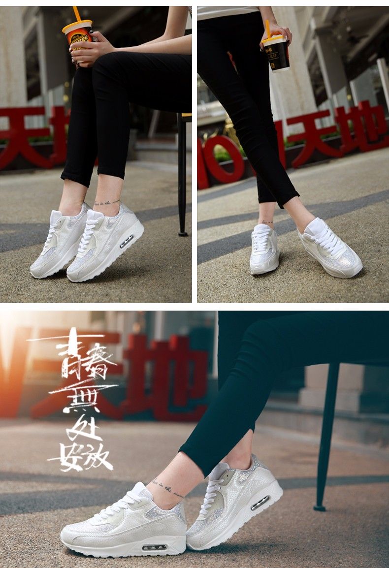 Fashion KUYUPP Wedges Women Trainers Breathable Sport Sequined Cloth Casual Shoes Outdoor Walking Shoes Zapatillas Mujer YD36 (20)
