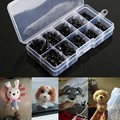100pcs/box 8/9/11/13.5/15mm Mini Black Plastic Safety Nose Triangle For Doll Teddy Stuffed Animals Toys Dolls Accessories