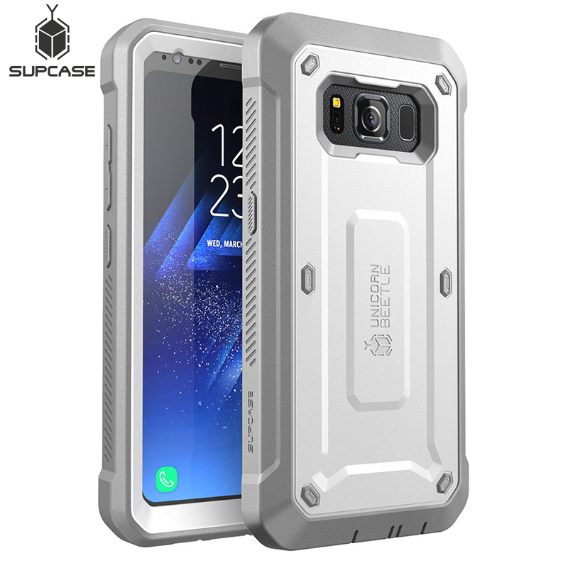 SUPCASE For Samsung Galaxy S8Active Case Unicorn Beetle UB Pro Full Body Rugged Holster Cover WITH Built in Screen ProtectorFitted Cases   -