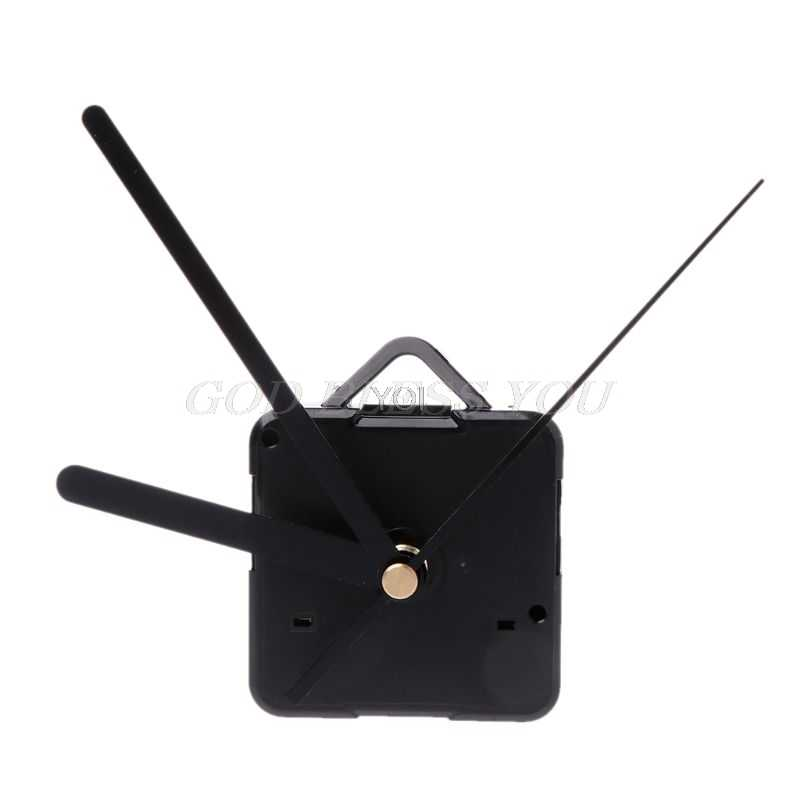 Quartz Clock Movement Mechanism Hands Wall Repair Tool Parts Silent Kit Set  Black Pointer 28