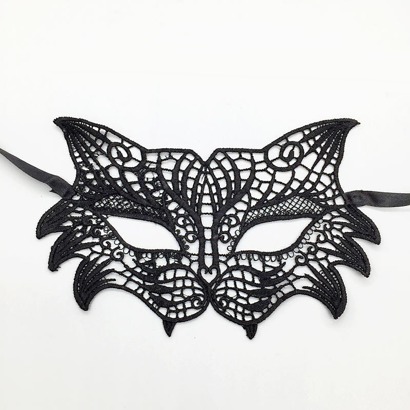 Черная Сексуальная кружевная Маскарадная маска для карнавала, Хэллоуина, маскарада на половину лица, маски для вечеринки, праздничные принадлежности для вечеринки#30 - Цвет: PM039
