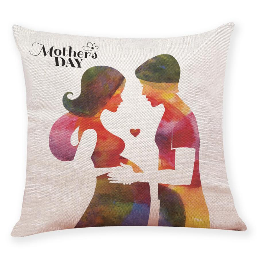 2018 Cushion Cover 45*45 Home Decor Cushion Cover Happy Mother's Day Throw PillowcasePillow Case Home Decor gift