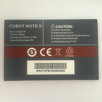 Do baterii CUBOT Note S 4150mAh 100 nowa oryginalna bateria zapasowa do telefonu komórkowego CUBOT Note S tanie i dobre opinie VBNM 3501 mAh-5000 mAh Oryginalny CN (pochodzenie)
