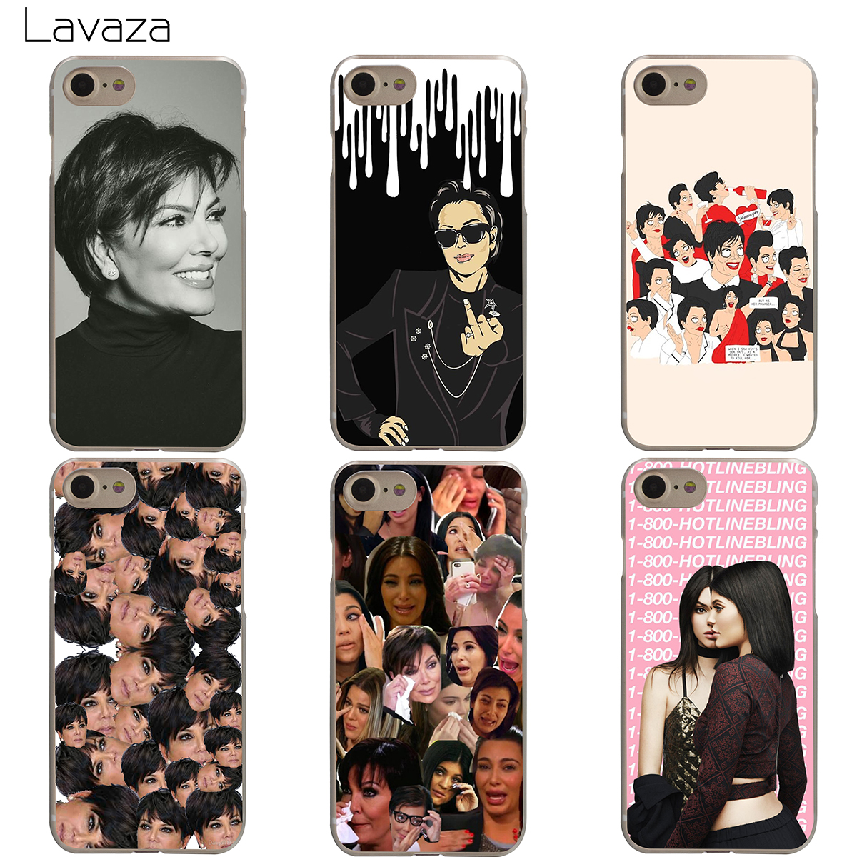 the latest 1bc1e c80b5 US $2.14 5% OFF|Lavaza Alla Pugacheva Nyusha t.A.T.u. Kris Jenner Case for  iPhone XS Max XR X 8 7 6 6S Plus 5 5S SE-in Half-wrapped Case from ...